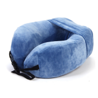 Discovery Adventures Bantal Leher Full Memory Foam DF76217 Biru