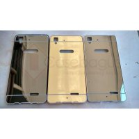 Aluminium Metal Bumper Case with Mirror Cover - Oppo R7 / R7 Lite