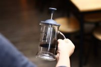Hario Cafe Press Slim French Press CPSS 2TB Black TOP M