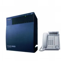 Panasonic PABX KX-TDA100 PBX Kapasitas 8 CO - 4 digital - 40 analog [free Telephone MasterKX-DT333]