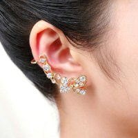 ANTING WANITA PANJANG DIAMOND LONG BUTTERFLY EARRING EARING