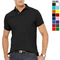 Basic Men Collar Shirt (Kaos Kerah S-XXL)