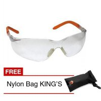 KING'S KY 2221 Kacamata Safety + Nylon Bag