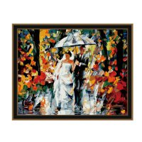 Painting by famous paintings - Wedding in the rain