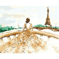 DIY Painting by famous paintings - Bride of Eiffel Tower