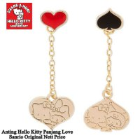Anting Hello Kitty Panjang Love Sanrio Original