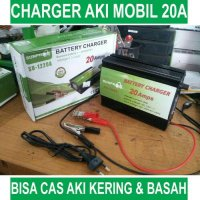 Charger Aki Mobil Cas Aki Mobil Smart Fast Charger 20 ampere