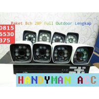 Paket 8 ch AHD 2 MP Full Outdoor + HDD 1 TB.