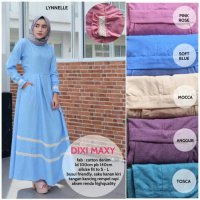 Long Dress maxmara Wanita Muslim polos busui dixy fit size XL .