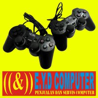 JOY STICK USB PC DOUBLE GAMEPED JOISTIK DUA GEMPED STIC KABEL GAMEPAD LAPTOP KOMPUTER PS3 JOYSTICK GAME PAD PS 3 STIK DOUBEL DOBEL HITAM