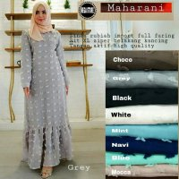 Long Dress maxmara Wanita Muslim linen rubiah maharani XL
