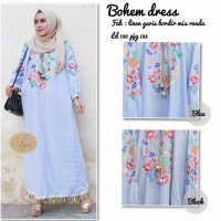 Long Dress maxmara Wanita Muslim bordir bohem jumbo XXXL