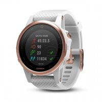 Garmin Fenix 5s Rose Goldtone Sapphire with White Band Free QuickFit Silicone Band