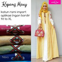 Long Dress maxmara Wanita Muslim polos kepang XL
