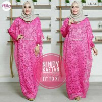 Long Dress maxmara Wanita Muslim brokat lace nindy kaftan