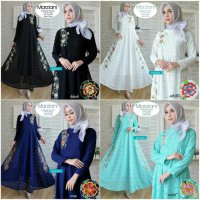 Long Dress maxmara Wanita Muslim brokat lace import marziani
