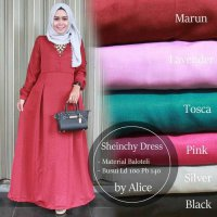 Long Dress maxmara Wanita Muslim polos busui scheincy XL