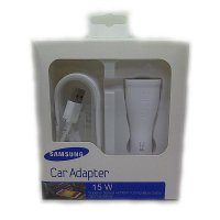 Samsung Car Adapter With Usb 3.0 Cable For Galaxy Note 4 Charger Mobil - Putih