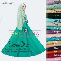 Long Dress maxmara Wanita Muslim busui vinolia XL polos