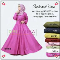 Long Dress maxmara Wanita Muslim ambrose XL busui