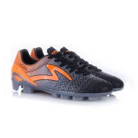 Specs Sepatu Bola 100759 PHOTON FG - BLACK DARK COOL GREY MANGO ORANGE