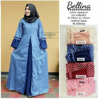 Long Dress maxmara Wanita Muslim polkadot bellina busui XL