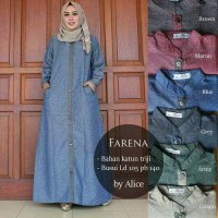 Long Dress maxmara Wanita Muslim busui farena XL jumbo