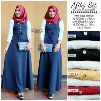 Jumpsuit Long Dress maxmara Wanita Muslim inner kaos afika setelan XL