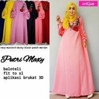 Long Dress maxmara Wanita Muslim polos apl bordir putri XL balloteli