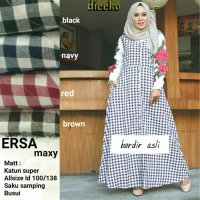 Long Dress maxmara Wanita Muslim busui kotak ersa XL