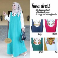 Long Dress maxmara Wanita Muslim jumbo Tava XXl bordir bunga