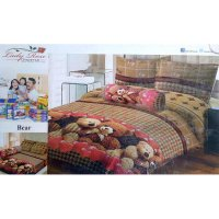 Sprei Lady Rose Disperse Uk.180 x 200 Motif Bear