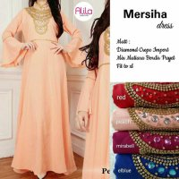 Long Dress maxmara Wanita Muslim gaun pesta tangan puff mershiha XL