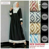 Long Dress maxmara Wanita Muslim hitam new wardani XL