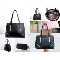 Tas Tenteng Shoulder Hand Bag Wanita Impor Fashion Trendy Casual Modis