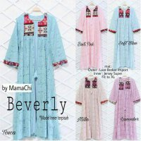 Long Dress maxmara Wanita Muslim Lace Import Brokat halud Beverly Pastel