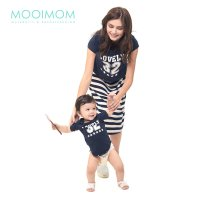 MOOIMOM 2 Piece Number 32 Maternity & Nursing Dress Baju Hamil Menyusui Couple Ibu Anak