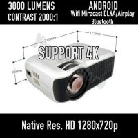 Yourday Yrd300s Proyektor Mini Android Hd Projector Led Wifi 3000 Lumens