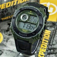 Jam Tangan Pria Timex Expedition DigitaL Rubber Black Green