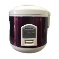 Elecor Rice Cooker El2000s Stainless Steel 1 L (ungu)