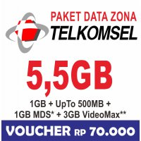 Telkomsel Data Internet Up To 5.5GB (Simpati, Kartu AS, Loop) 24jam 30hari