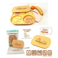 Mother's Corn Meal Plate with Lid + Bag Motherscorn Tempat Makan Anak