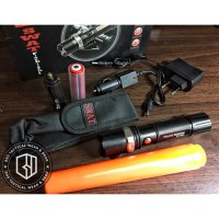 PREMIUM Senter Tactical Police SWAT LED Flashlight Rechargeable with Compass