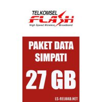 TELKOMSEL FLASH 25GB+2GB Video (KHUSUS NOMOR SIMPATI), 24JAM 30HARI