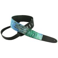 [worldbuyer] Perris Leathers P25M-53 2.5-Inch Leather Guitar Strap with Designer Fabric/176381