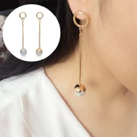 Anting Korea Small circle copper pearl ball earrings