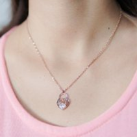 Kalung Korea Diamond Necklace Gold Plated 18K