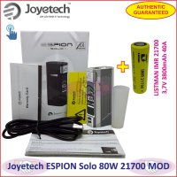 Joyetech ESPION Solo 80W Vaporizer Box MOD with 21700 Battery Authentic - Gun Metal