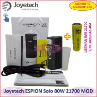 Joyetech ESPION Solo 80W Vaporizer Box MOD with 21700 Battery Authentic - Black