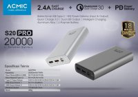 ACMIC S20PRO Quick Charge 3.0 Power Delivery Powerbank [20000 mAh]